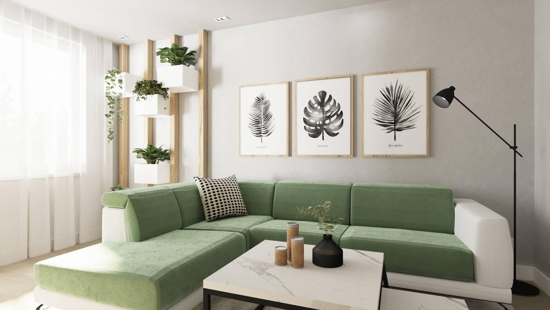 Interiérový dizajn – byt pre záhradnú architektu