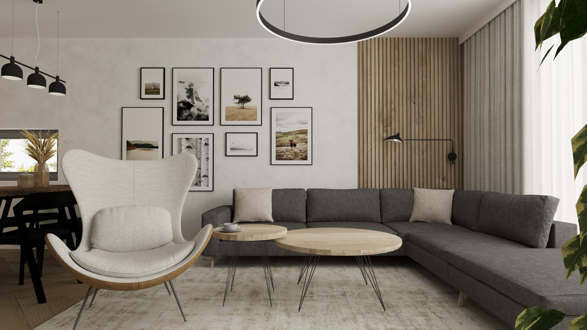 Interiérový dizajn – Rodinný dom v nordic štýle