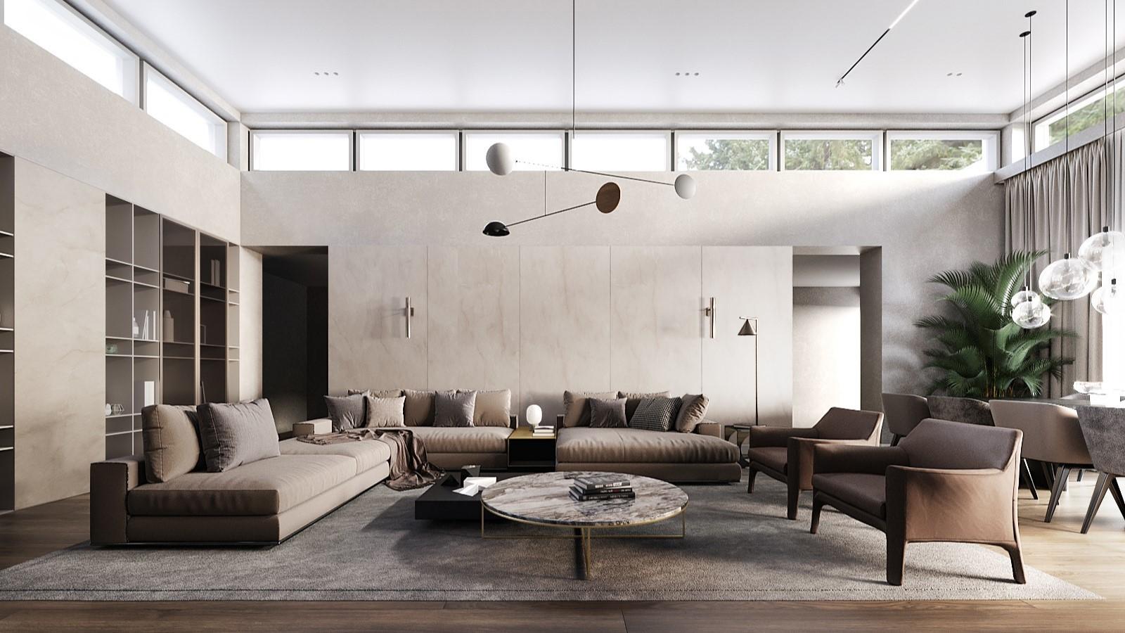 Interiérový dizajn – Interiér pripomínajúci moderný hotel